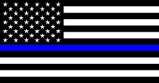"Police Officer Thin Blue Line American Flag decal sticker Back The Blue 3"" x 5"""
