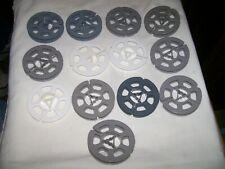 Lot of 13 Vintage Empty 8mm Plastic Film Reels 3 inch (2 are marked Kodak)
