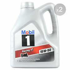 Mobil 1 Racing 4T 15W-50 four-stroke motorcycle engine oil - 2 x 4 Litres 8L
