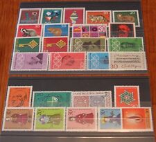 Germany Complete Year 1968 Stamp Set w/ SS Mint Never Hinged MNH German Stamps