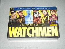 Watchmen: The Ultimate Cut Blu-ray 4-Disc Set With Graphic Novel FREE SHIPPING