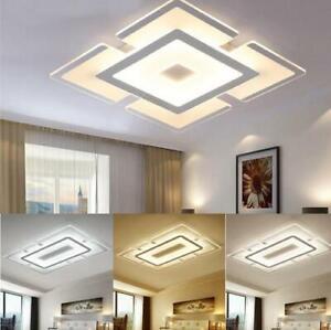 Modern Elegant Acrylic LED Ceiling Light Living Room Bedroom Home Lamp Square
