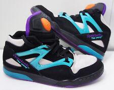 REEBOK The PUMP OMNI LITE Black Steel Teal Purple orange v45019 Sz 6