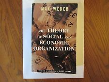 The Theory of Social and Economic Organization by Max Weber (1997, Paperback)