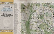 Map Central Washington Usa 1948 2-sided + suburbs + index Hl3.237
