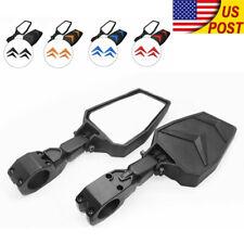 "Side Mirror Rear View Mirrors 1.75"" Bar For UTV Polaris Ranger RZR XP 900 1000 S"