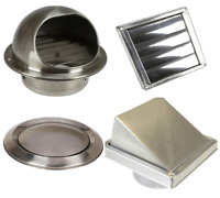 Stainless Steel Wall Air Vent Metal Cover Outlet Exhaust Grille 100 125 150mm