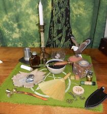 Altar Set Kit Wicca Eagle  Athame Besom Bell Nest Fir Needle Nag Champa Oil