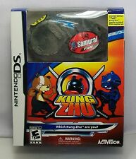 Kung Zhu Bundle Game & Limited Edition Hamster Samurai Tull (Nintendo DS, 2010)