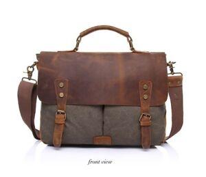 DAYTON - Washed Canvas Leather Bag