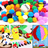 100pcs Colorful Party Festival DIY Craft Pompoms Fluffy Balls Felt Kids Toys NEW