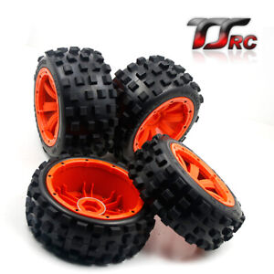 Front and Rear Wheel Tyres Set for 1/5 HPI ROVAN KM Baja 5B