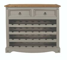 Premium CORONA Grey Washed Small Sideboard in Solid Pine With Dovetail Joints
