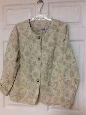 Sag Harbor ladies blazer style jacket size 16 beige floral pattern 13