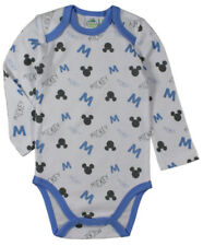 BABY BOYS MICKEY MOUSE BODYSUIT BABYGROW ROMPERSUIT NEWBORN TO 2 YRS