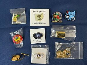 Lot of 10 Kiwanis International Pins Various '90s-00s' Have a LOOK 👀