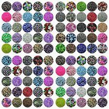 500/3000Pcs 4mm Glasslperlen Kristall Glasschliffperlen Würfel Quadrat Perlen HQ