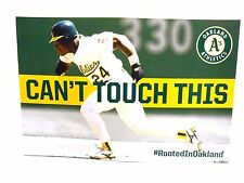 Can't Touch This 2017 Oakland A's Athletics Rickey Henderson Baseball Cheer Card