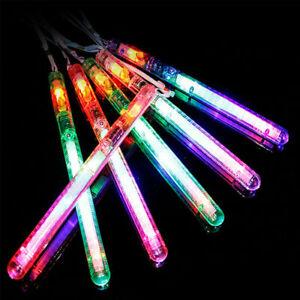 6x LED Wand Light Glow in Dark Flashing Colour Party Glow Stick Flash