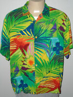 Jams World Vintage 90's Multicolor Floral Button-Front Hawaiian Shirt Men's XL