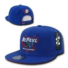 Blue DePaul University Blue Demons NCAA Flat Bill Snapback Baseball Ball Hat Cap