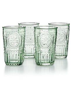 Bormioli Rocco Romantic Glass Drinking Tumbler 10.25 Oz Set Of 4 - Pastel Green