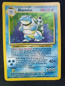 Blastoise Base Set Unlimited 1999 WOTC Holo Pokemon Card 2/102