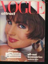 VOGUE March 1986 Fashion Magazine ALEXA SINGER Cover by RICHARD AVEDON