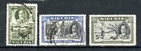 Nigeria 1936 1s, 2s 6d and 5s FU CDS