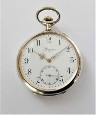 1900 LONGINES SILVER CASED 15 JEWELLED SWISS LEVER POCKET WATCH WORKING