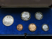 Australia.  1966 PROOF SET.   6 Coins - in Light Blue Case...
