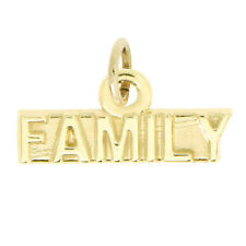 14Kt Yellow Gold Polished Family Charm Pendant