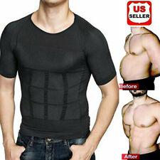 US The Ultra Durable Body Toning Shirt Torso Compression Shapewear Vest Tank Top