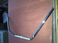 Chrome bicycle handlebars + gooseneck + grips Package Schwinn Columbia Huffy