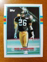 1989 Topps #323 Rod Woodson NRMT HOF ROOKIE Pittsburgh Steelers / Purdue