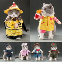 Pet Dog Cat Puppy Christmas Costume Dress Up Fancy Clothes Coat Cosplay   √ &