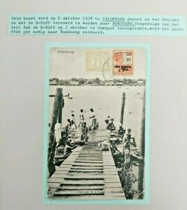 1928 H-NAFC CRASH POSTCARD SHIPPED BY BOAT INSTEAD DUTCH INDIES B111.6 $0.99