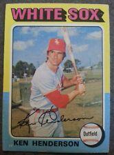 Ken Henderson 1975 Topps VIntage Chicago White Sox Baseball Card #59