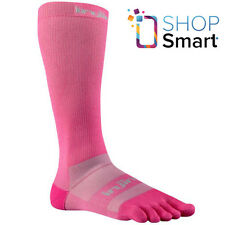 INJINJI EX-CELERATOR 2.0 COMPRESSION TOE SOCKS PINK OVER THE CALF PERFORMANCE