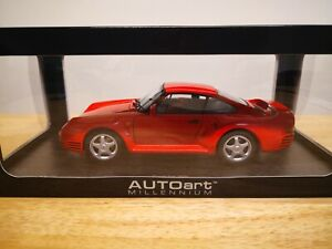 1:18 Autoart Porsche 959  1986 (Red) Millennium Edition #78082
