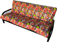 Full Futon Mattress Covers, Protector Cover Cotton/Polyester Tropical Flower H2