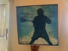 "Varsity Distressed Lacrosse Wall Mural Pottery Barn Teen 48""x48"""