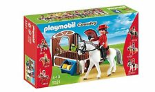 "New! Playmobil 5521 Flamenco Horse with Stall Play Set ""Race the Flamenco"" 4-10"