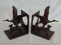 Vintage Bronze Crane Bookends By Toyo - Japan