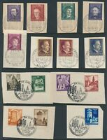 Lot Stamp Germany Poland WWII 1943 3rd Reich Hitler Birthday Warsaw CTO