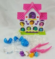 Squinkies Tiny Zinkies Birdhouse Bubbles Tweezers Magnifying Glass Set
