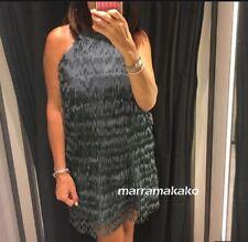 NEW AW19 ZARA WOMAN FRINGED DRESS 0387/175 SIZE M VESTIDO FLECOS