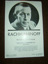 Vintage 1930s-40s Advertisment/Publicity Flyer-Rachmaninoff-Mcfarl in Aud Dallas