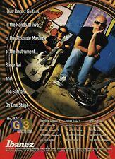 Steve Vai & Joe Satriani Ibanez Guitars G3 Tour 1997 8x11 Promo Poster Ad