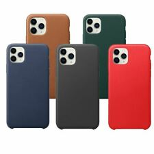 Leather Slim PU Silicone Case Cover Tempered Glass Screen Protector For Apple